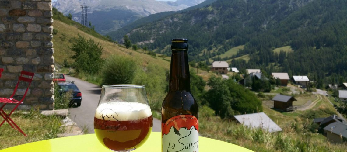 Ambrée bière la sauvage ubaye barcelonnette brasserie des hautes vallées
