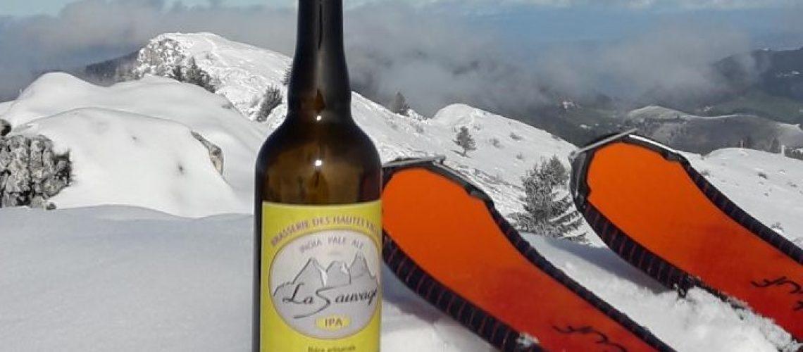 Pointe d'Hirmentaz bière la Sauvage Ubaye Janvier 2020