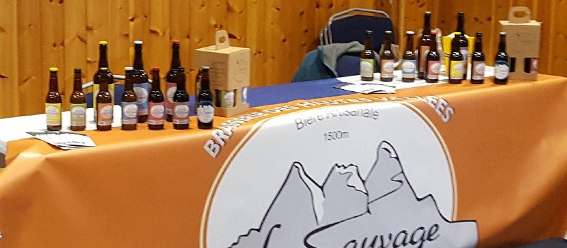 Table bande de sauvage ubaye biere artisanale